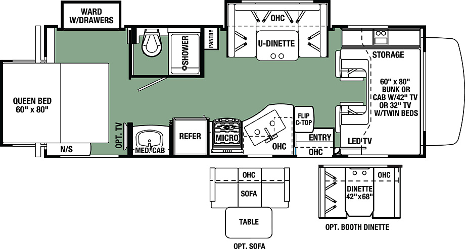 2017 Forest River Forester 2501TS Floor Plan