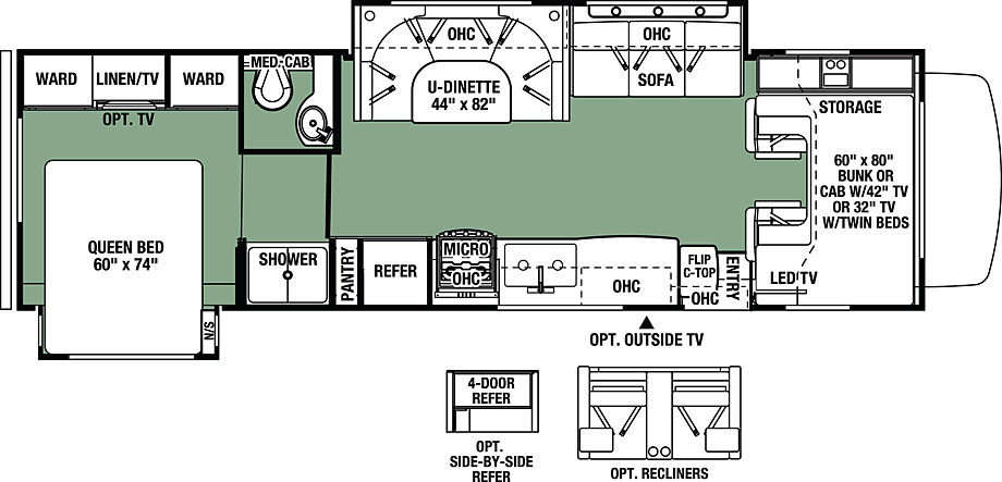 2017 Forest River Forester 3011DS Floor Plan