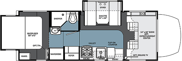 2015 Forest River Solera 24R Floor Plan