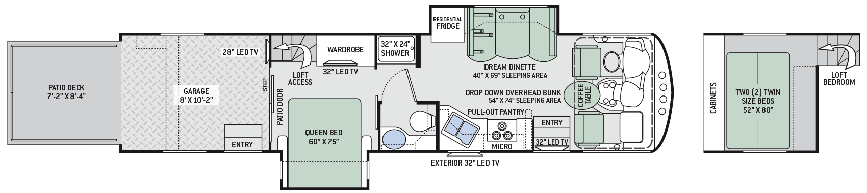 2017 Thor Outlaw 37RB Floor Plan