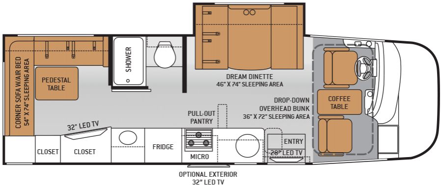 Used Car Floor Plan: New And Used Motorhome Dealer
