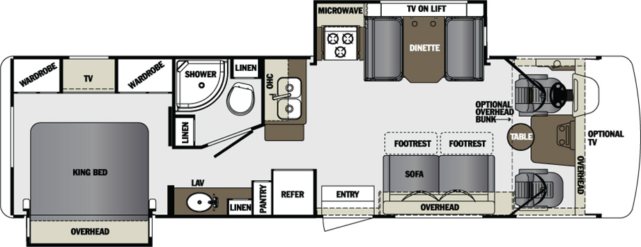 2016 Forest River Georgetown 310DS Floor Plan
