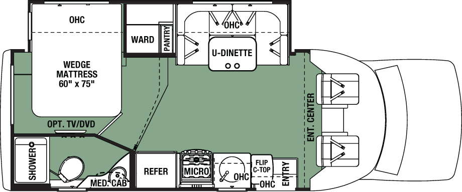 2016 Forest River Forester 2431S Floor Plan