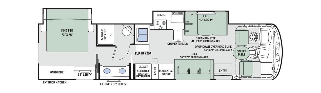 2017 Thor Windsport 34P Floor Plan