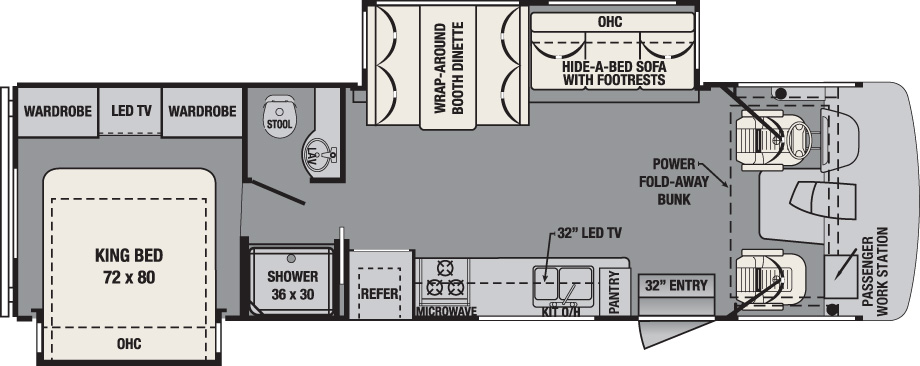 2016 Forest River FR3 30DS Floor Plan