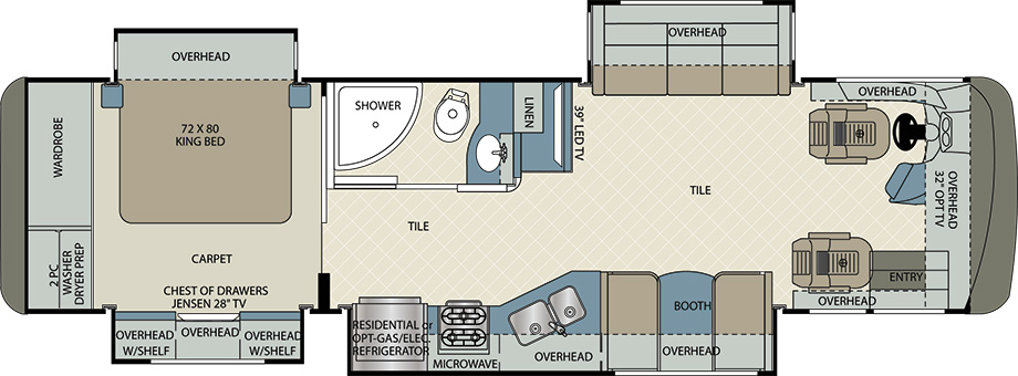 2017 Forest River Berkshire 34QS Floor Plan