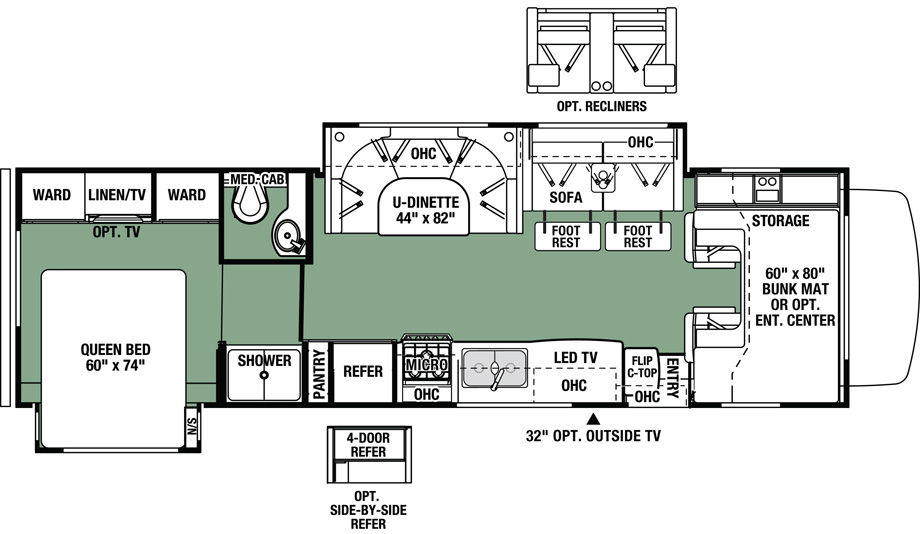 2020 Forest River Forester 3011DS Floor Plan