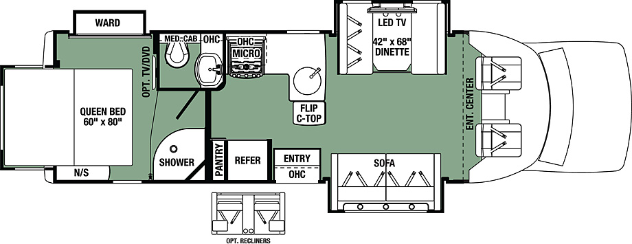 2018 Forest River Forester GTS 2801QS Floor Plan
