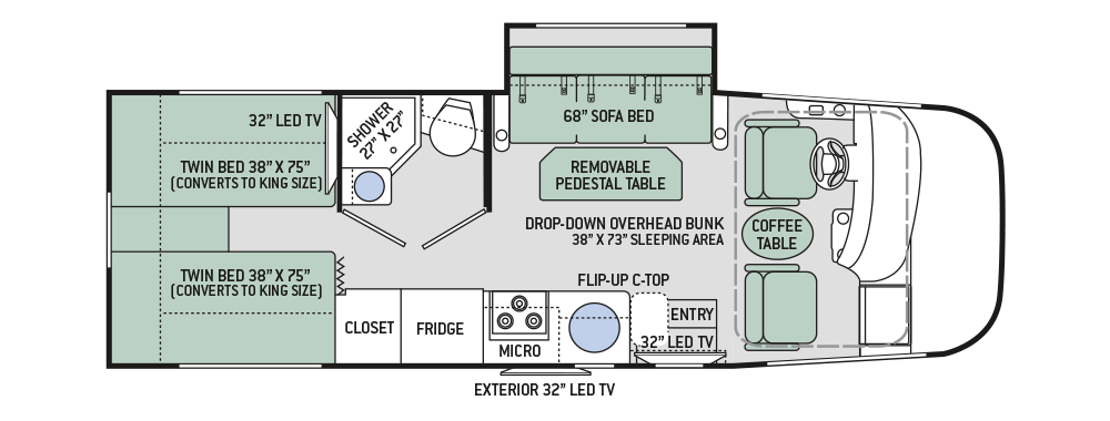 2017 Thor Vegas 24.1 Floor Plan