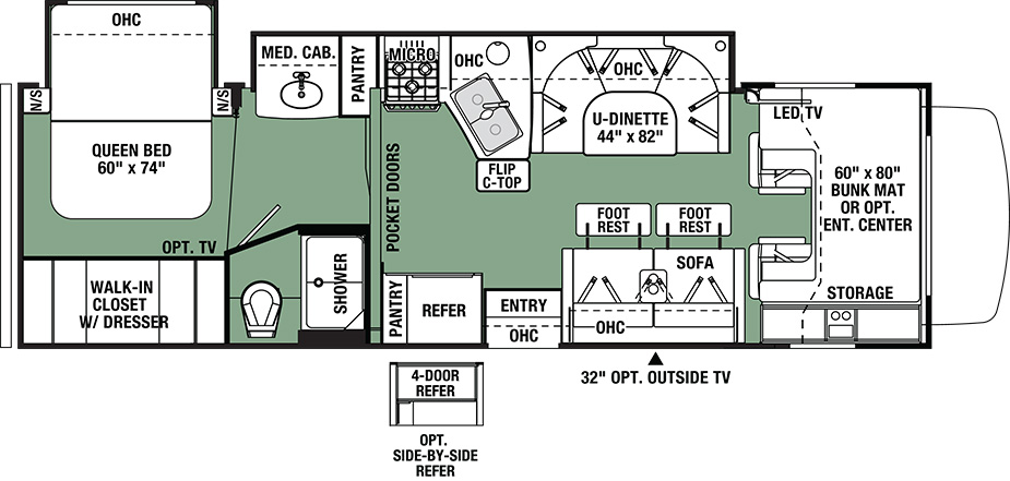 2019 Forest River Forester 3041DS Floor Plan