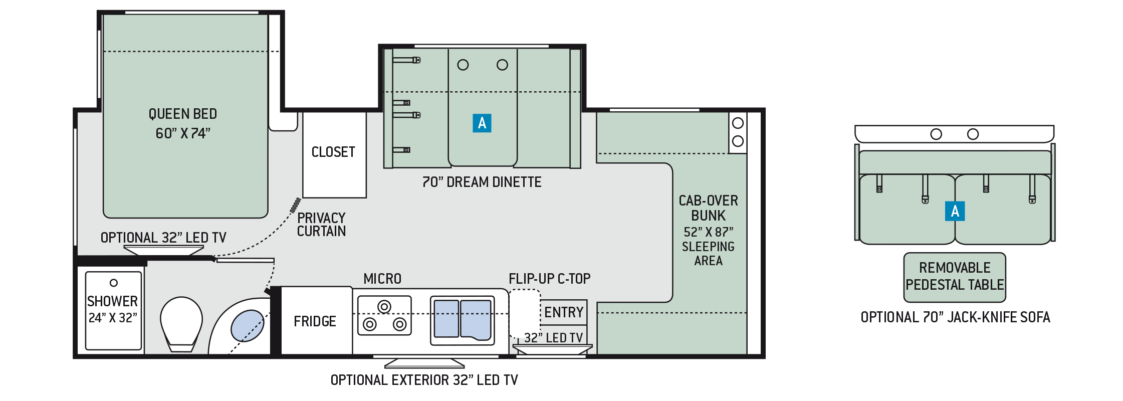2018 Thor Chateau Sprinter 24FS Floor Plan