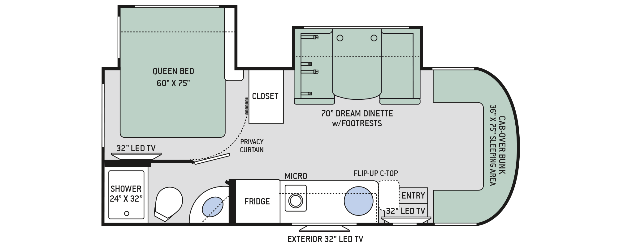 2018 Thor Citation Sprinter 24SS Floor Plan