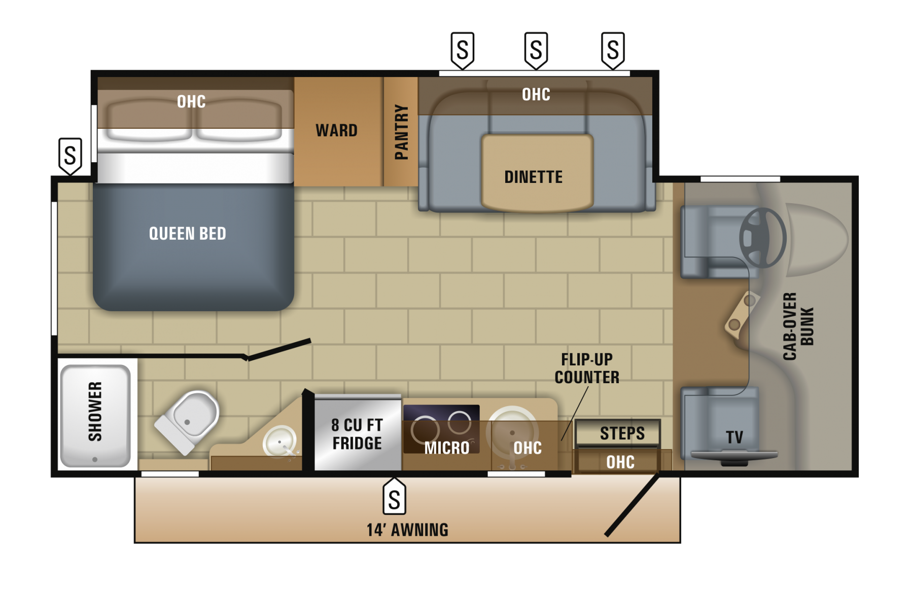 2018 Jayco Melbourne 24L Floor Plan