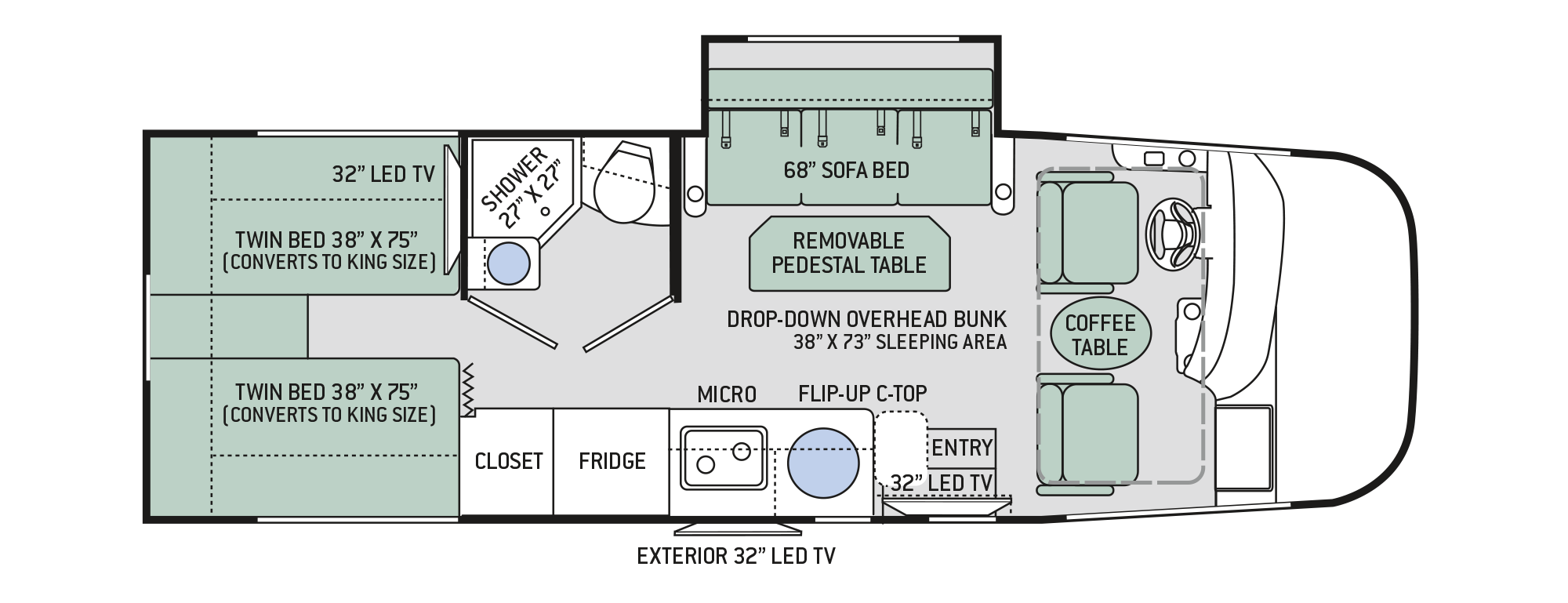 2018 Thor Vegas 24.1 Floor Plan