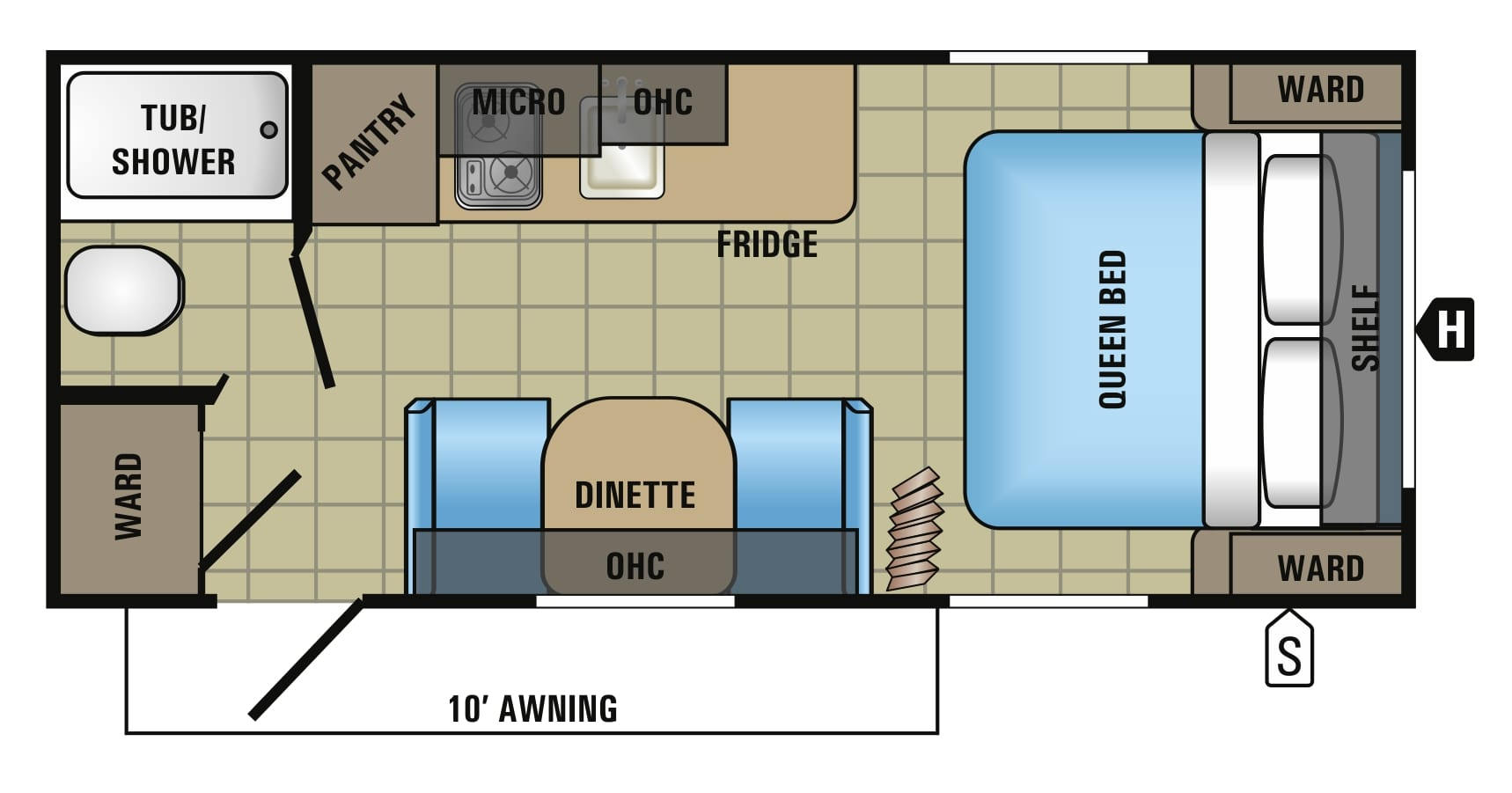 2017 Jayco Jay Flight SLX 195RB Floor Plan