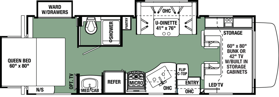 2018 Forest River Forester 2501TS Floor Plan