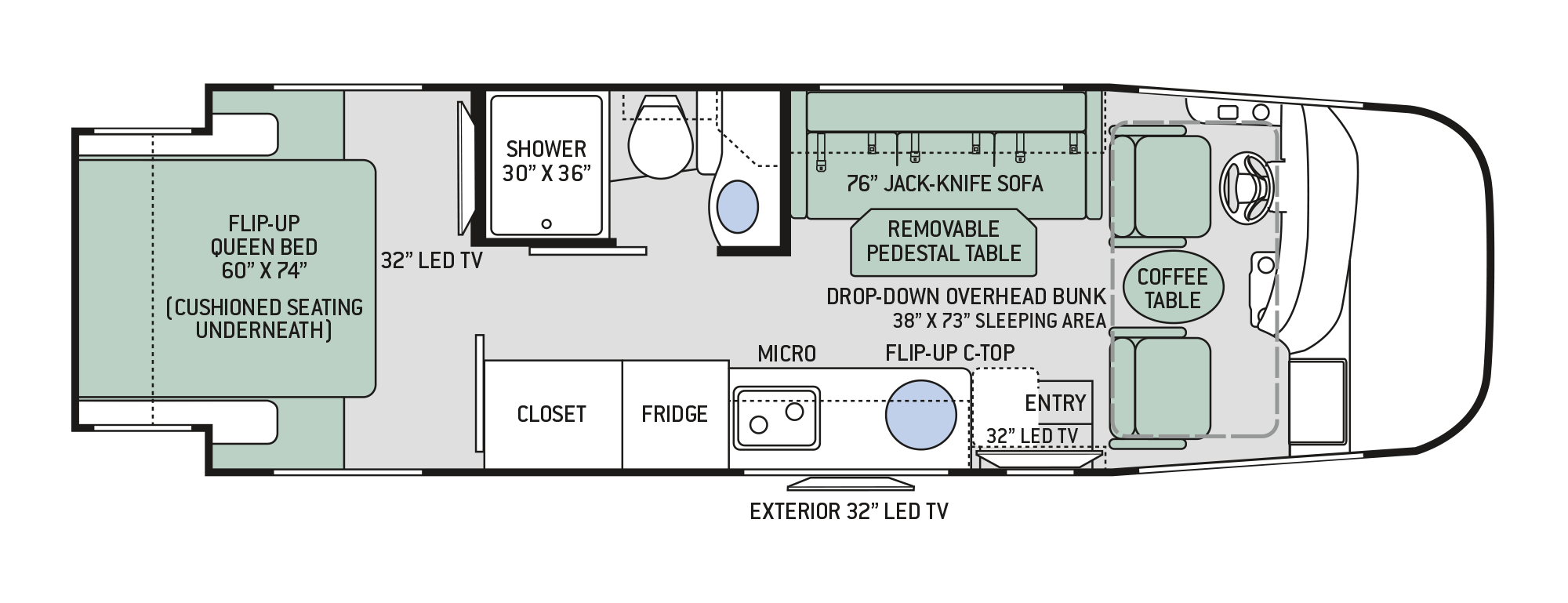 2018 Thor Vegas 25.2 Floor Plan