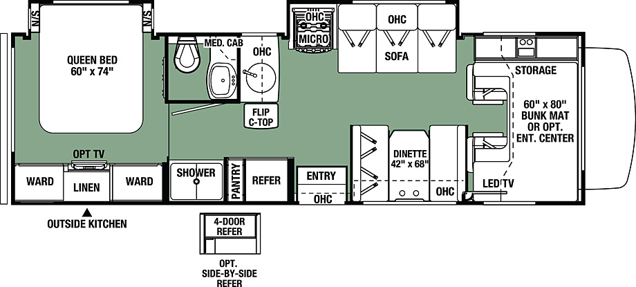 2018 Forest River Forester 2861DS Floor Plan