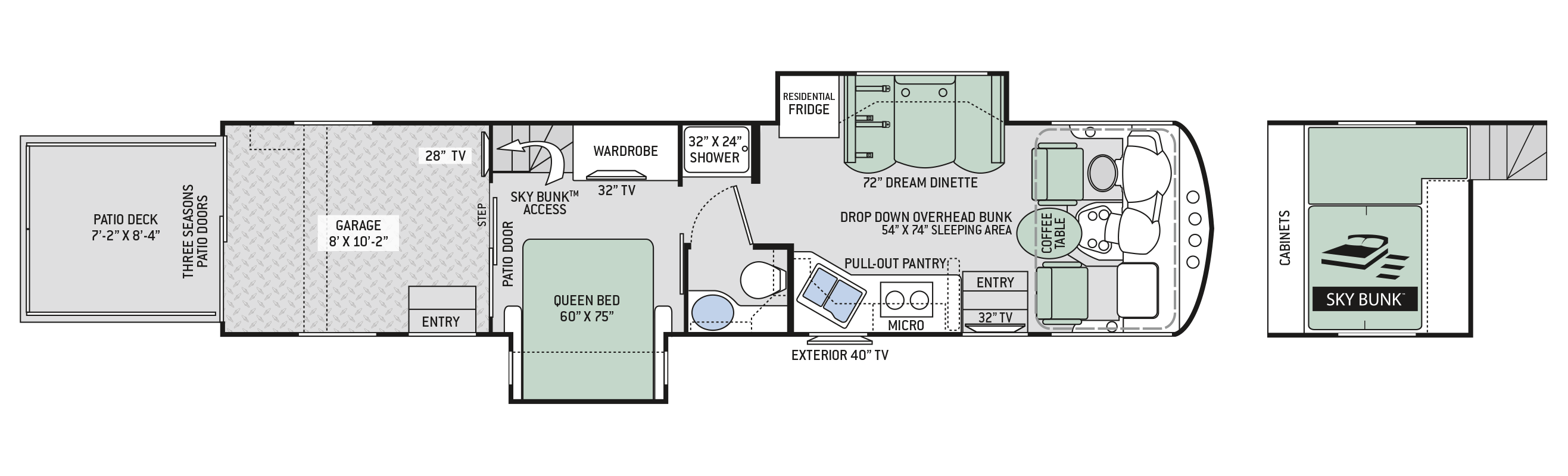 2019 Thor Outlaw 37RB Floor Plan