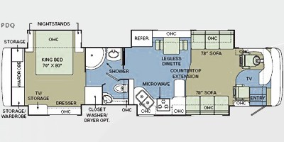 2008 Holiday Rambler Scepter 42PDQ Floor Plan