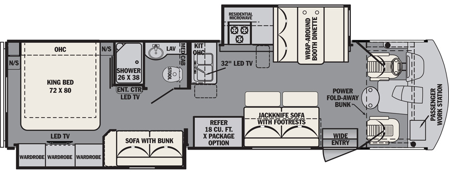2019 Forest River FR3 32DS Floor Plan