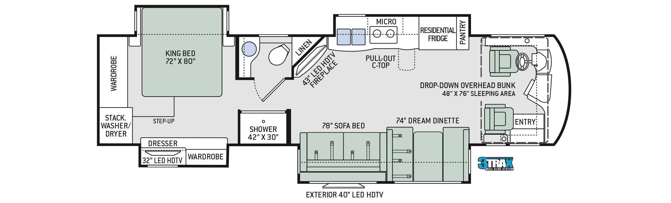 2018 Thor Aria 3601 Floor Plan