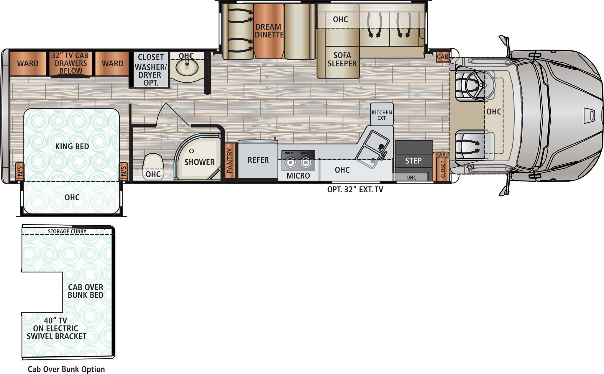 2020 Dynamax DX3 34KD Floor Plan