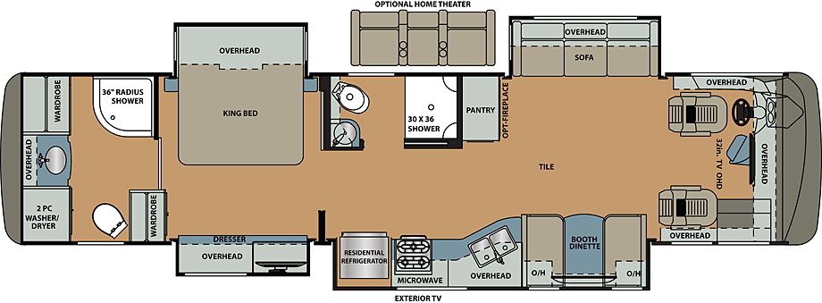 2019 Forest River Berkshire 39B Floor Plan