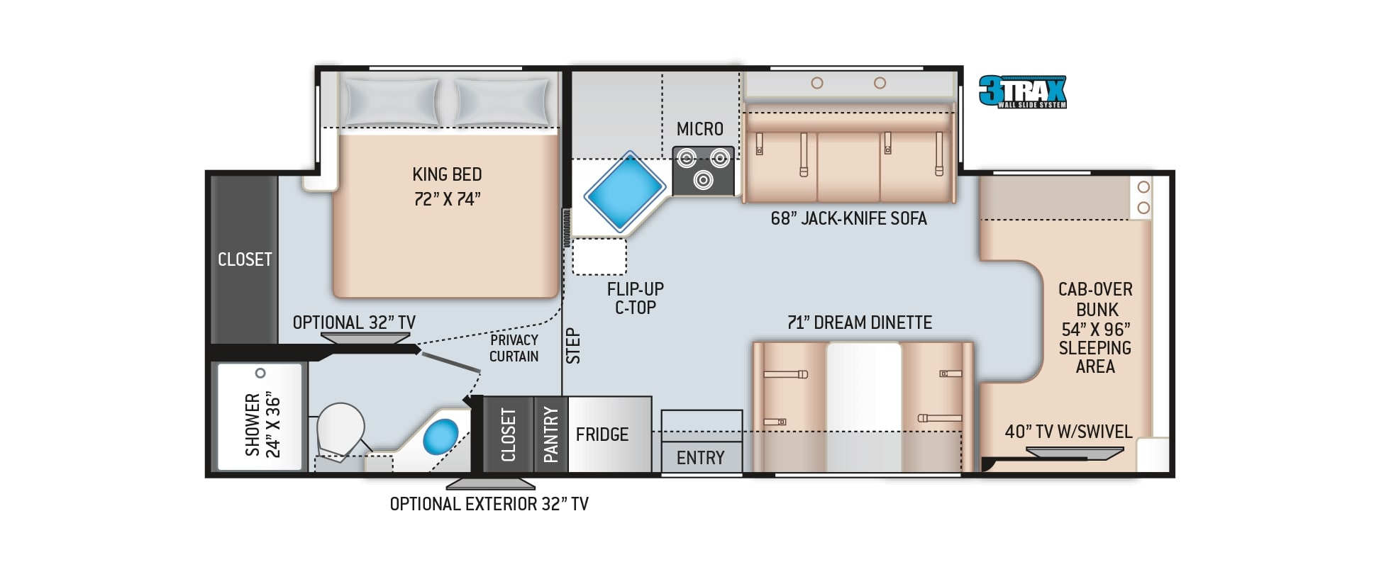 2020 Thor Chateau 27R Floor Plan