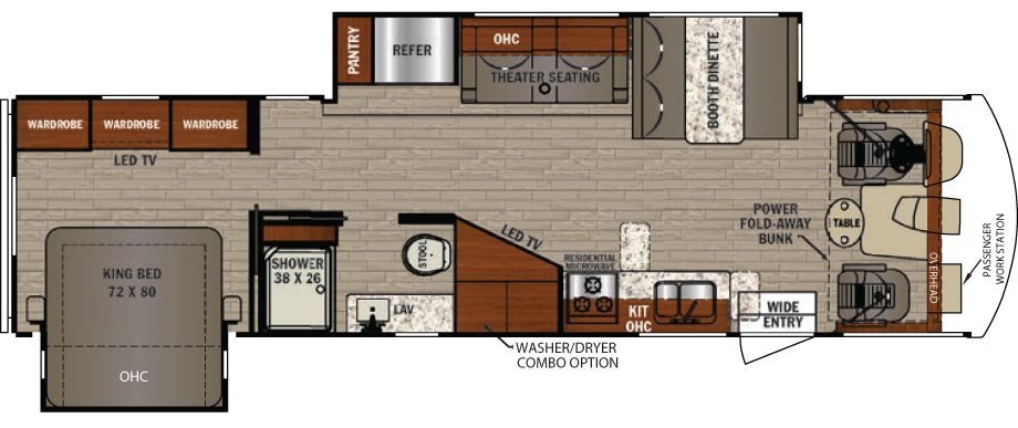 2019 Forest River FR3 33DS Floor Plan