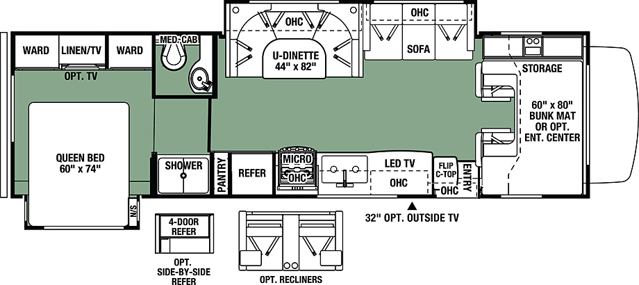 2019 Forest River Forester 3011DS Floor Plan