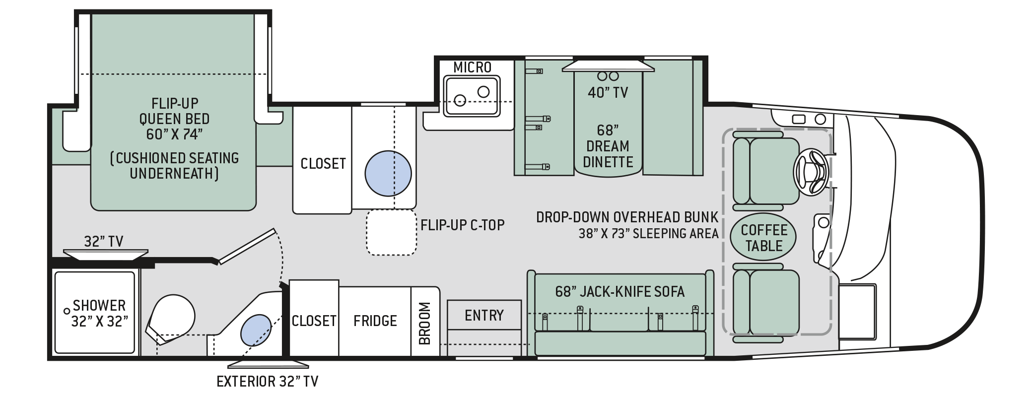 2019 Thor Vegas 27.7 Floor Plan