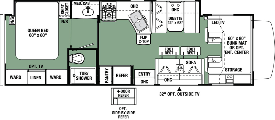 2020 Forest River Forester 3051S Floor Plan