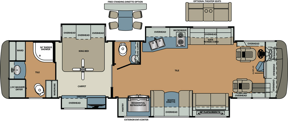 2019 Forest River Berkshire XL 40D Floor Plan