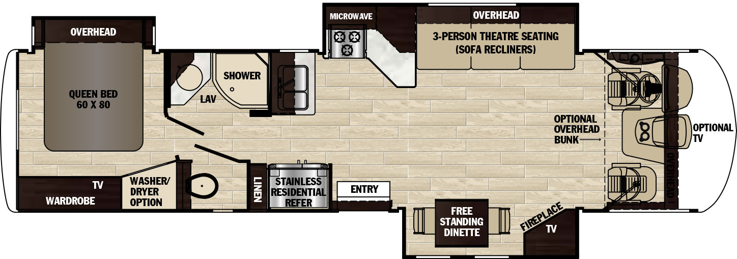 2020 Forest River Georgetown XL 378TS Floor Plan