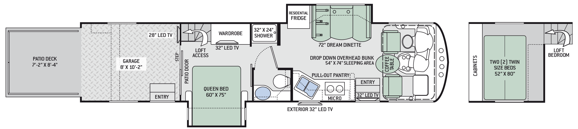 2018 Thor Outlaw 37RB Floor Plan