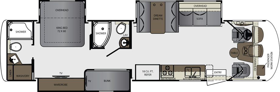 2018 Forest River Georgetown GT5 36B5 Floor Plan