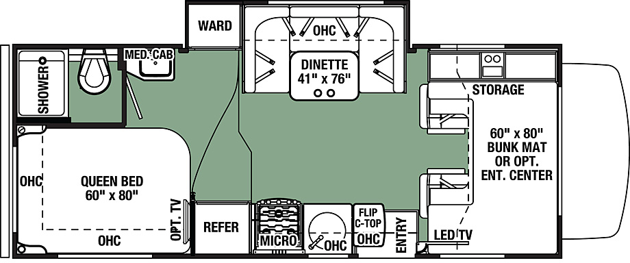 2018 Forest River Forester 2291S Floor Plan