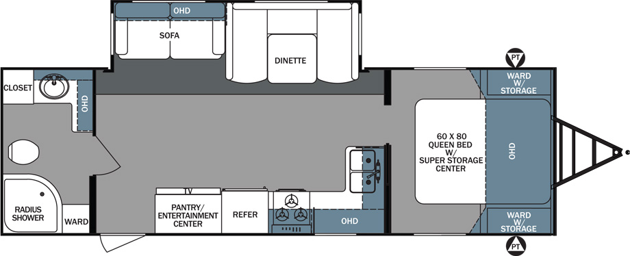 2018 Forest River Surveyor 267RBSS Floor Plan