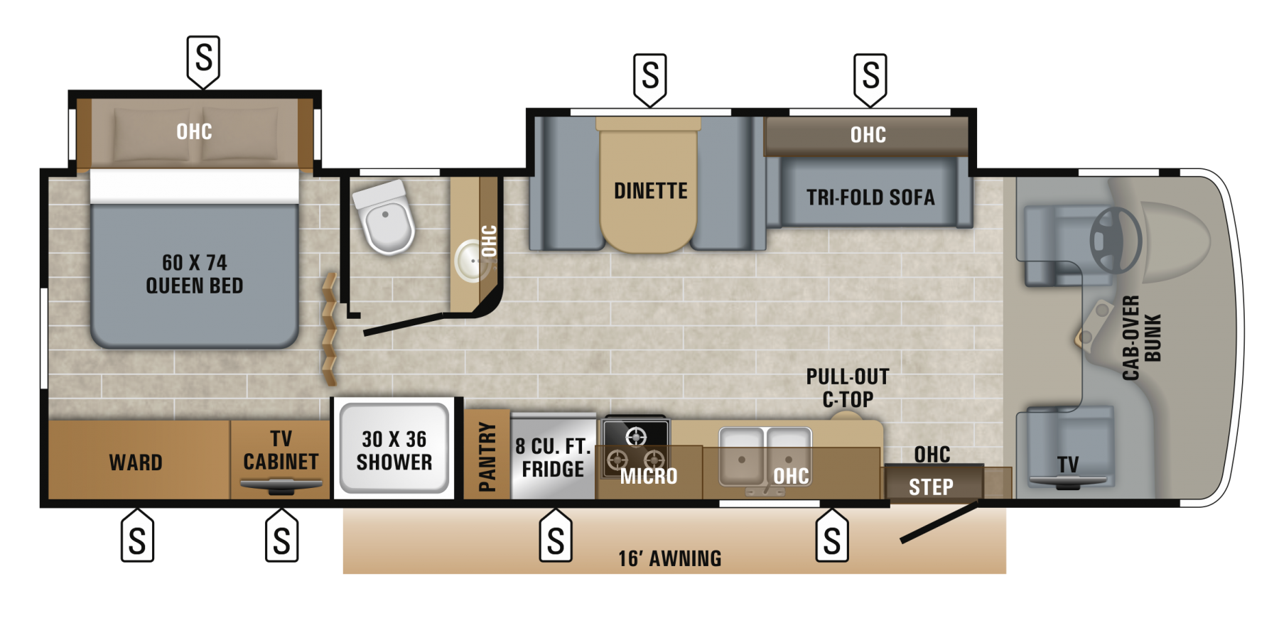 2019 Jayco Greyhawk 29MV Floor Plan