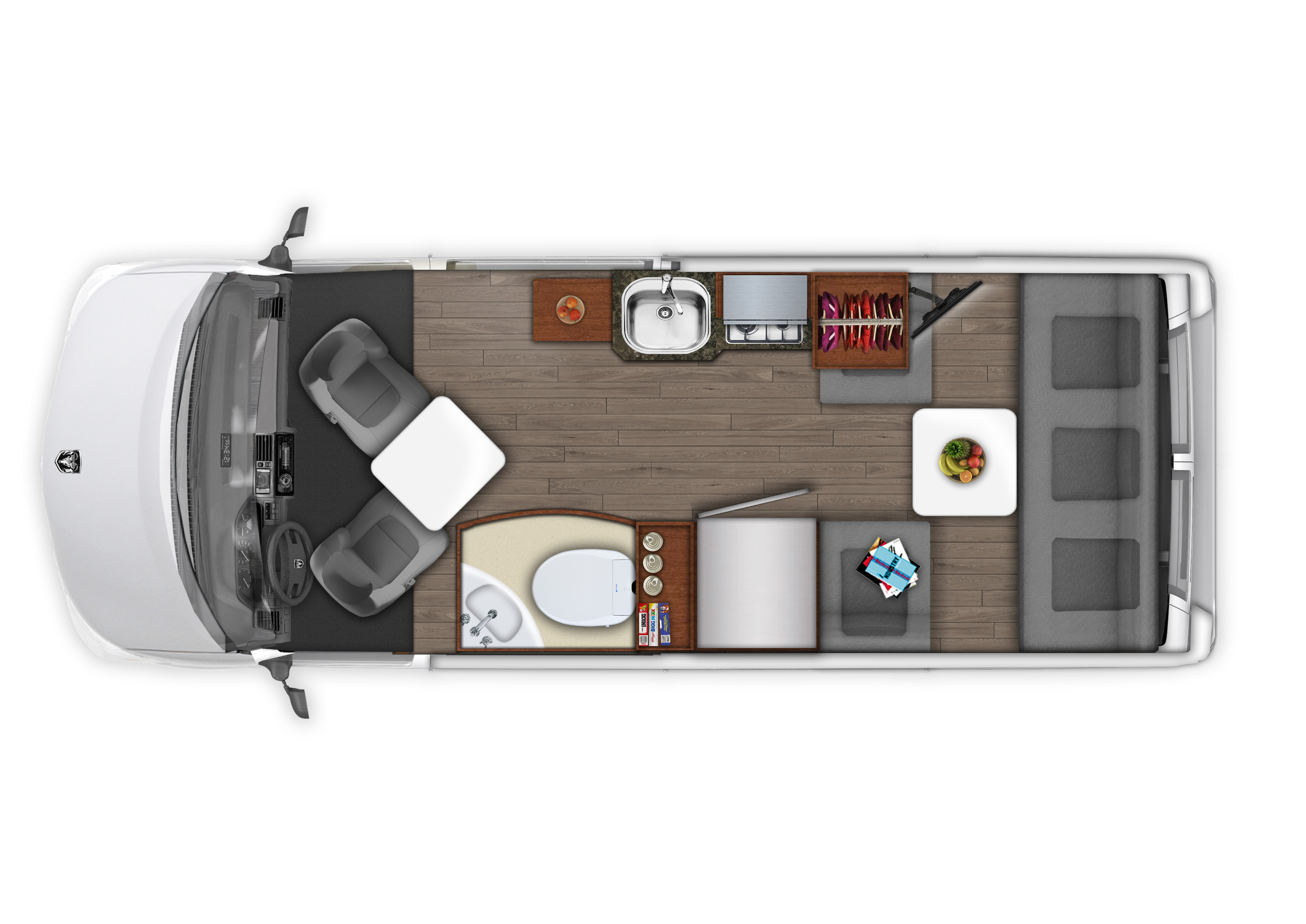 2018 Roadtrek Simplicity 3500 Floor Plan