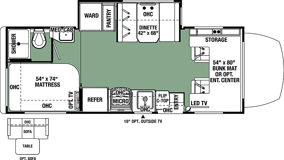 2018 Forest River Forester MBS 2401S Floor Plan