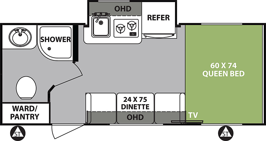 2018 Forest River R-Pod 180 Floor Plan