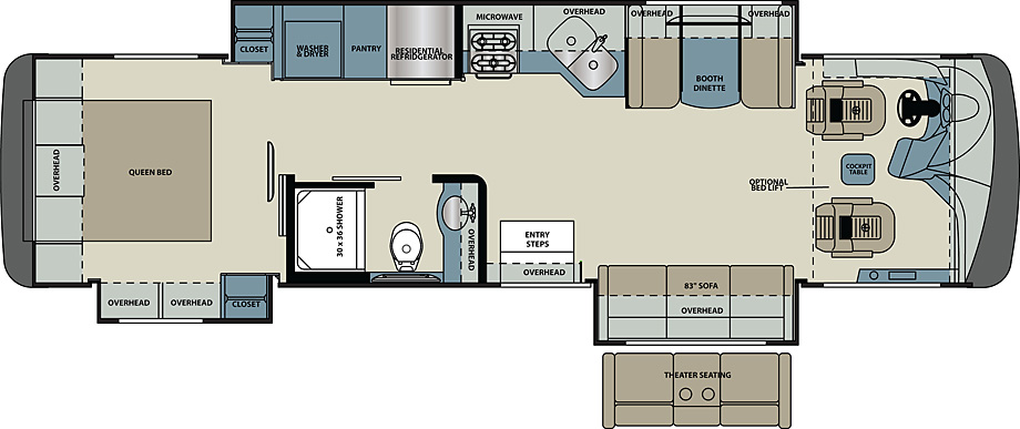2018 Forest River Legacy 34A Floor Plan