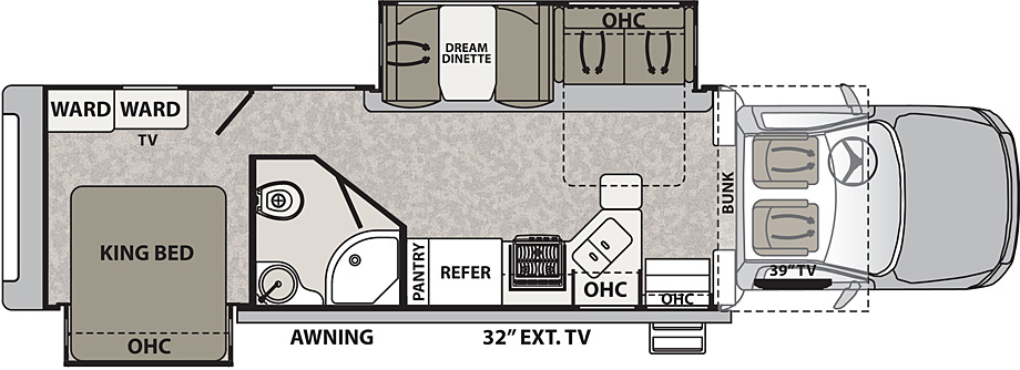 2018 Dynamax Isata 5 36DS Floor Plan