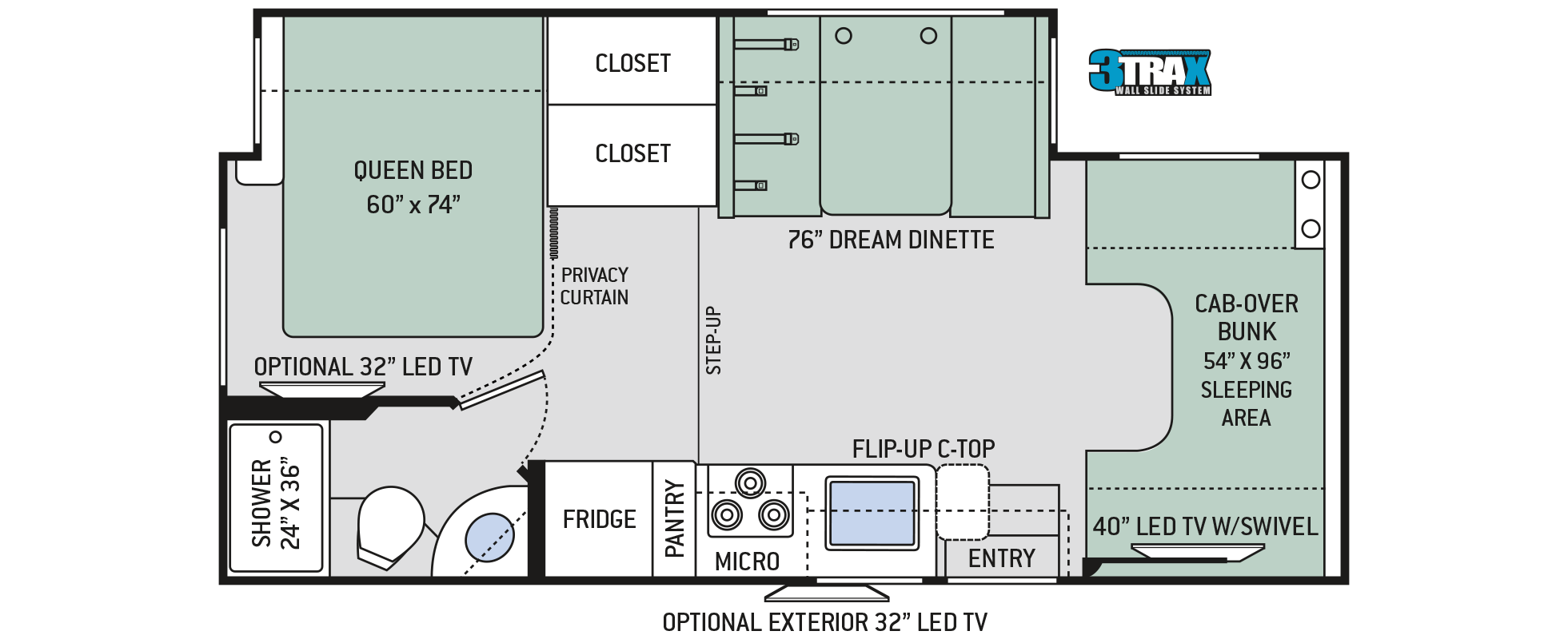 2018 Thor Chateau 24F Floor Plan