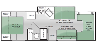 2015 Thor Freedom Elite 28H Floor Plan