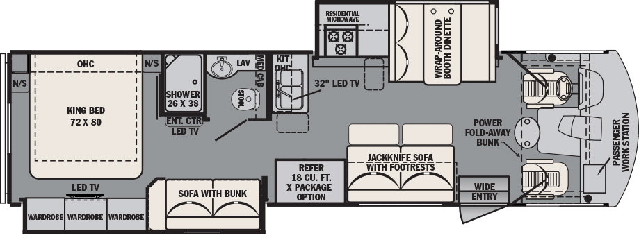 2018 Forest River FR3 32DS Floor Plan