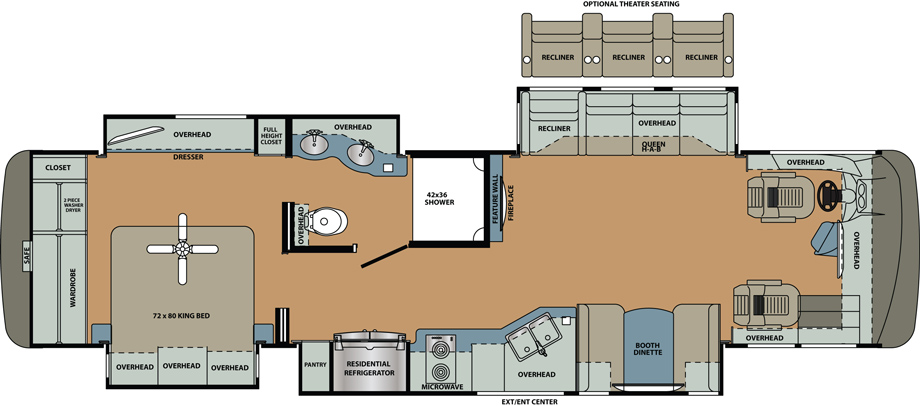 2019 Forest River Berkshire XL 37A Floor Plan